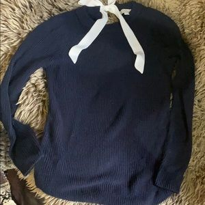 Marked bow back sweater